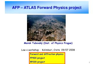 AFP � ATLAS Forward Physics project