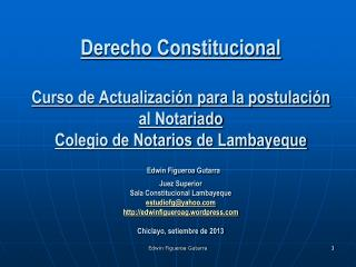 CONTENIDOS  1. La Constituci�n: Concepto. La Constituci�n dentro del Sistema Jur�dico.