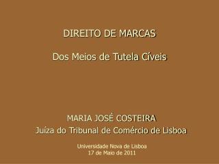 DIREITO DE MARCAS Dos Meios de Tutela Cíveis