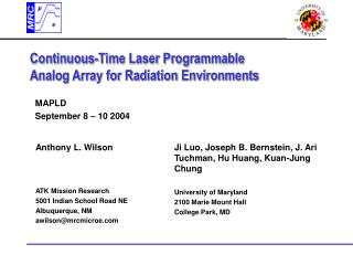 Continuous-Time Laser Programmable Analog Array for Radiation Environments