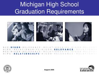 Michigan High School  Graduation Requirements