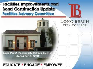 Facilities Improvements and Bond Construction Update Facilities Advisory Committee
