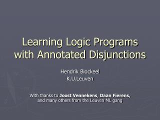 Learning Logic Programs with Annotated Disjunctions