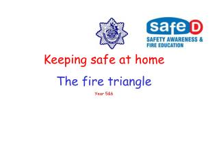 Keeping safe at home The fire triangle Year 56