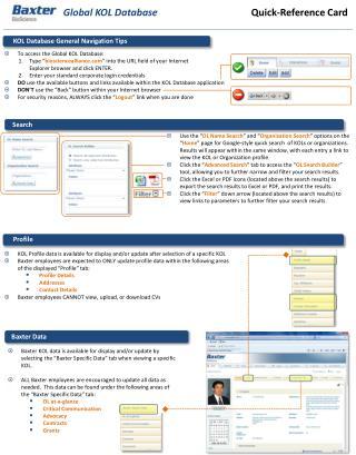 Global KOL Database