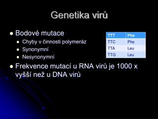 Genetika virů