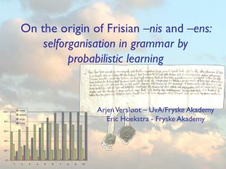 On the origin of Frisian  –nis  and  –ens: selforganisation in grammar by probabilistic learning