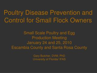 Poultry Disease Prevention and Control for Small Flock Owners