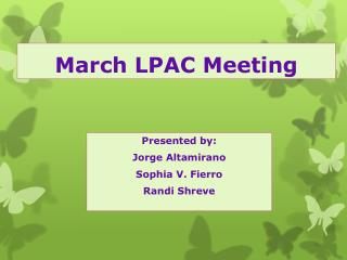 March LPAC Meeting