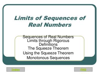 Limits of Sequences of Real Numbers