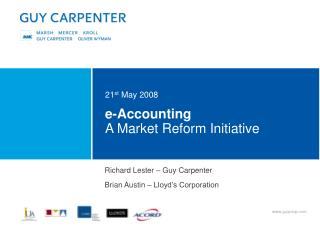 e-Accounting A Market Reform Initiative