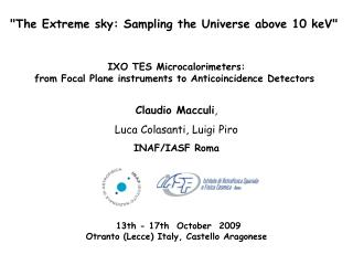 """ The Extreme sky: Sampling the Universe above 10 keV"""