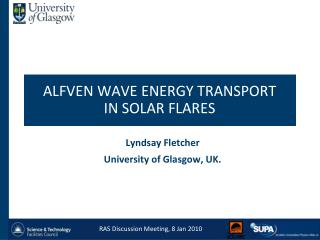 ALFVEN WAVE ENERGY TRANSPORT  IN SOLAR FLARES