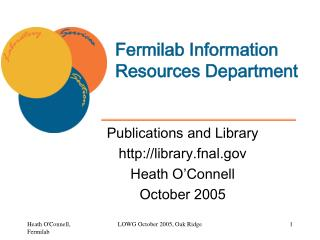 Fermilab Information Resources Department