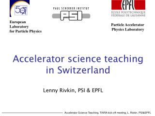 Accelerator science teaching in Switzerland