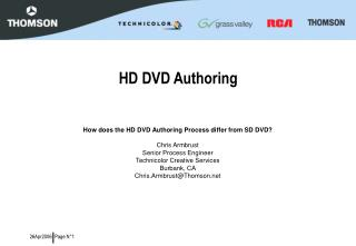 HD DVD Authoring