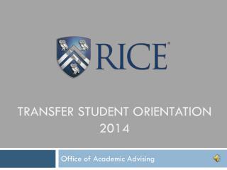 Transfer student orientation 2014
