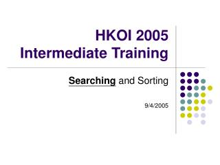 HKOI 2005 Intermediate Training