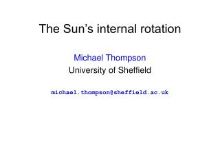 The Sun's internal rotation