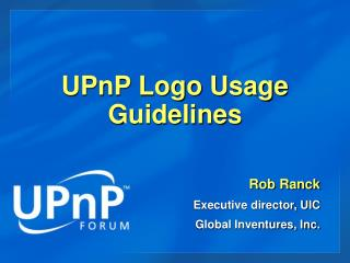 UPnP Logo Usage Guidelines