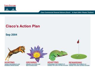 Cisco�s Action Plan