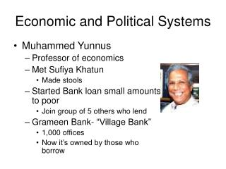 Economic and Political Systems