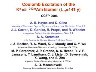 Coulomb Excitation of the  K p =5 - 242m Am Isomer (t 1/2 =141 y)