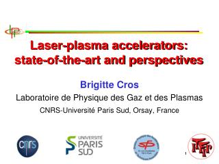 Laser-plasma accelerators:  state-of-the-art and perspectives