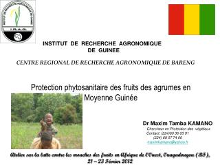 INSTITUT  DE  RECHERCHE  AGRONOMIQUE     DE  GUINEE