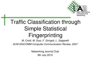 Traffic Classification through Simple Statistical Fingerprinting