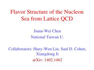 Flavor Structure of the Nucleon Sea from Lattice QCD