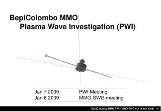 BepiColombo MMO      Plasma Wave Investigation (PWI)