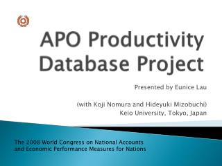 APO Productivity Database Project