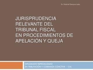 JURISPRUDENCIA RELEVANTE DEL  TRIBUNAL FISCAL  EN PROCEDIMIENTOS DE apelación y queja