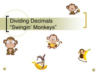 Dividing Decimals  Swingin  Monkeys
