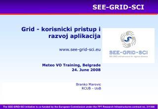 Grid - korisnicki pristup i razvoj aplikacija