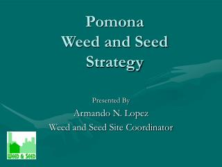 Pomona  Weed and Seed  Strategy