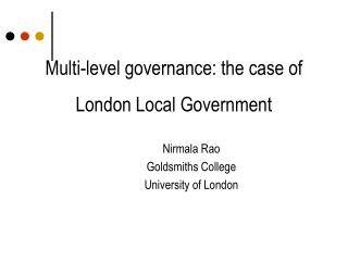 Multi-level governance: the case of London Local Government