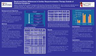 Racial and Ethnic Differences in Cardiac Resynchronization Therapy Outside of Published Guidelines