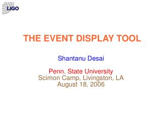 THE EVENT DISPLAY TOOL
