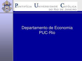 Departamento de Economia PUC-Rio