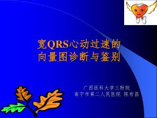 宽 QRS 心动过速的 向量图诊断与鉴别