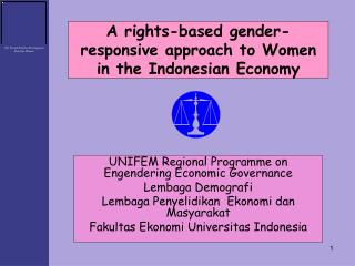 A rights-based gender-responsive approach to Women in the Indonesian Economy