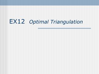 EX12   Optimal Triangulation