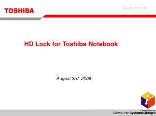 HD Lock for Toshiba Notebook