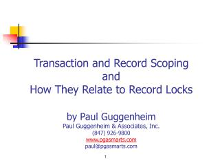 About Paul Guggenheim & Associates