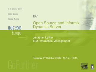 Open Source and Informix Dynamic Server