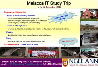 Contact:  Mr  Lim Fang How /  Mr Makawita Dimuthu