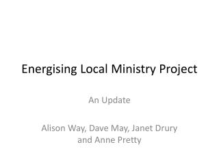 Energising Local Ministry Project