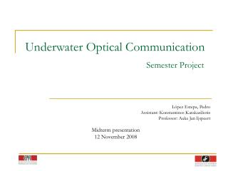 Underwater Optical Communication Semester Project